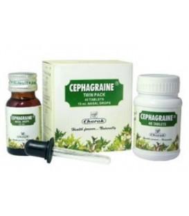 Cephagraine Charak Zestaw 40tabl+15ml krople do nosa