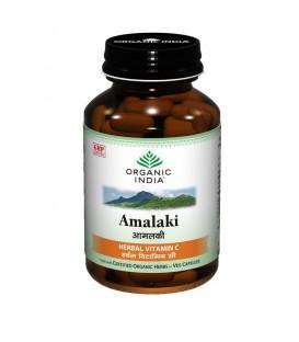 Amalaki - Owoce Amli, 60 kapsułek, Organic India - żródło witaminy C w dużej dawce
