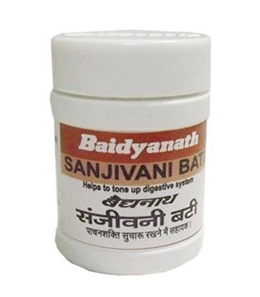 Sanjivani Bati 80 tabletek Baidyanath - przewlekłe przeziębienia, biegunka, wymioty, niestrawność.
