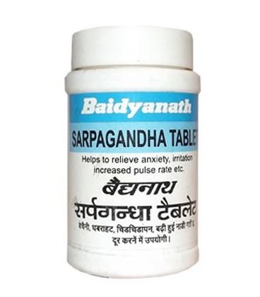 Sarpagandha 50 tabletek Baidyanath - na depresje i nadciśnienie krwi