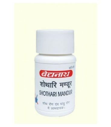 Shothari Mandur 40 tabletek Baidyanath - anemia i zaparcia