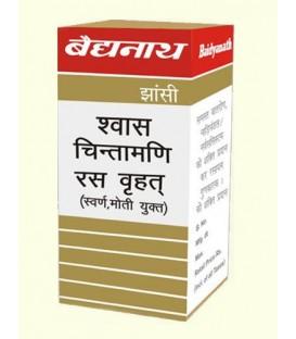 Shwas Chintamani Ras 5 tabletek Baidyanath - problemy układu oddechowego, alergia i osłabienie