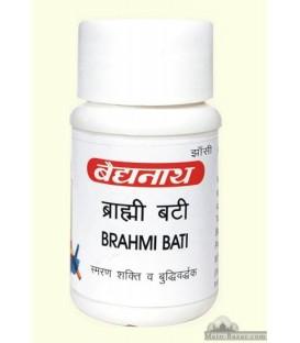 Brahmi Bati Gold 5 tabletek Baidyanath - na depresję i pamięć - ze złotem, perłami, szafranem i ambrą