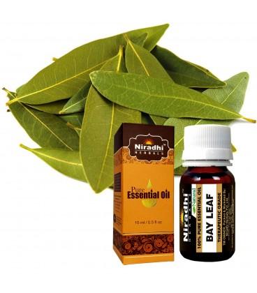 Olejek eteryczny Czysty 100% LAUROWY 15ml Niradhi Herbals