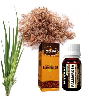 Olejek eteryczny czysty 100% PALMAROSA 15ml Niradhi Herbals
