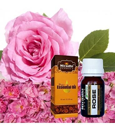 Olejek eteryczny czysty 100% RÓŻANY 15ml Niradhi Herbals