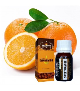 Olejek eteryczny czysty 100% SŁODKA POMARAŃCZA 15ml Niradhi Herbals