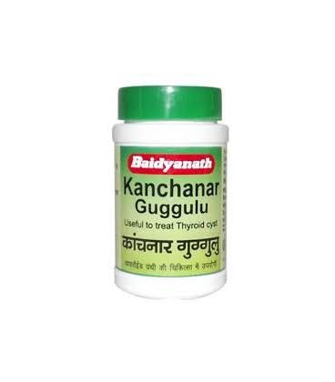 Kanchanar Guggulu 80 tabl. Baidyanath - obrzęki węzłów chłonnych, torbiel, guzy nowotworowe