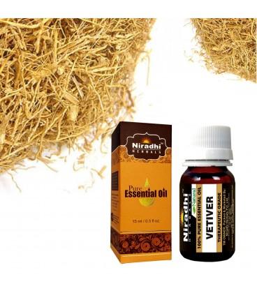 Olejek eteryczny czysty 100% WETYWERA 15 ml Niradhi Herbals
