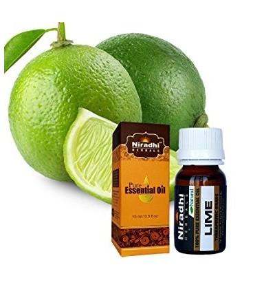 Olejek eteryczny 100% czysty LIMETKA 15ml Niradhi Herbals