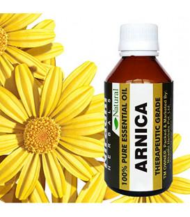 Olejek eteryczny czysty 100% Arnika (Arnica montana) Naczynka Żylaki Siniaki 120ml Niradhi Herbals